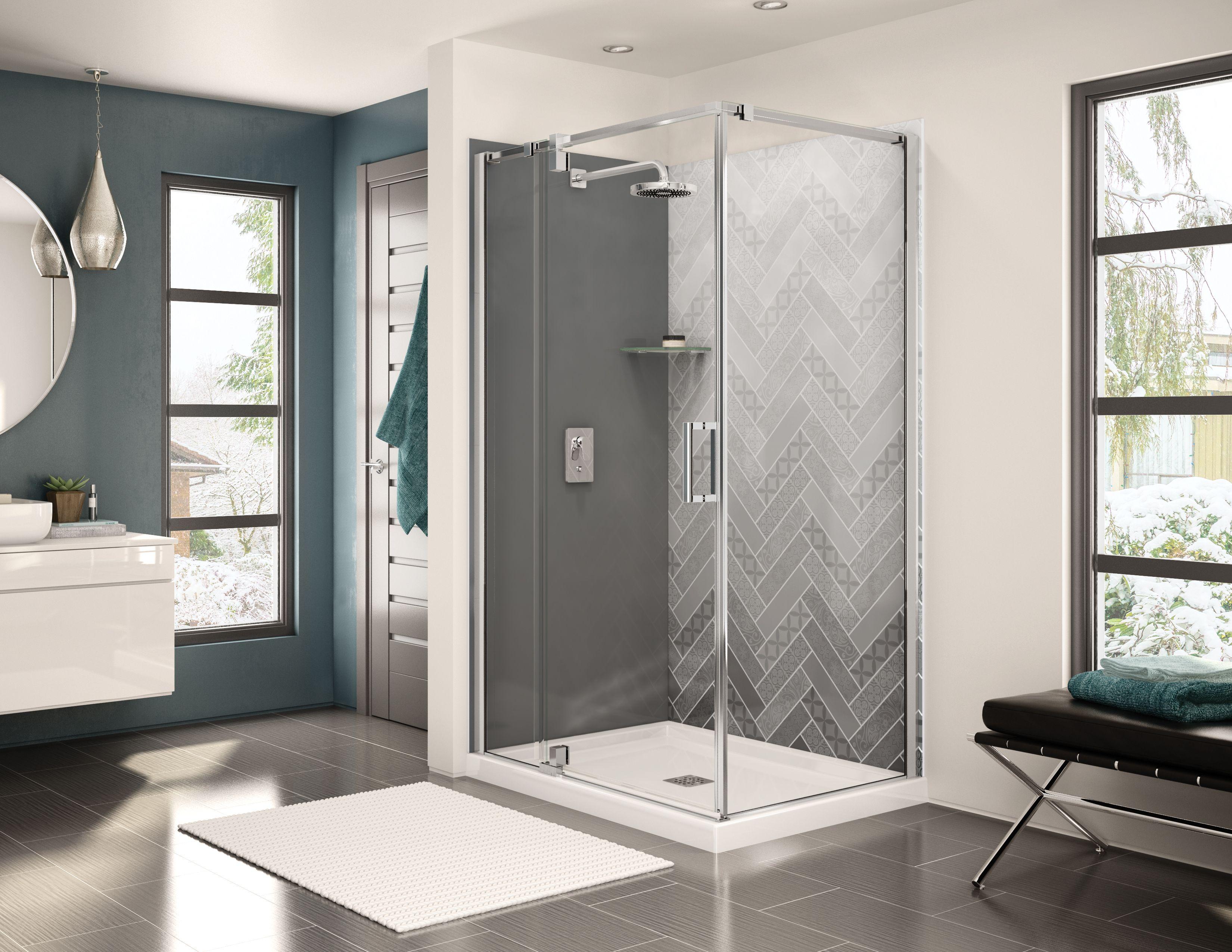 Utile Back Wall 48 In Maax Shower Wall Panels Bathroom Design Shower Wall