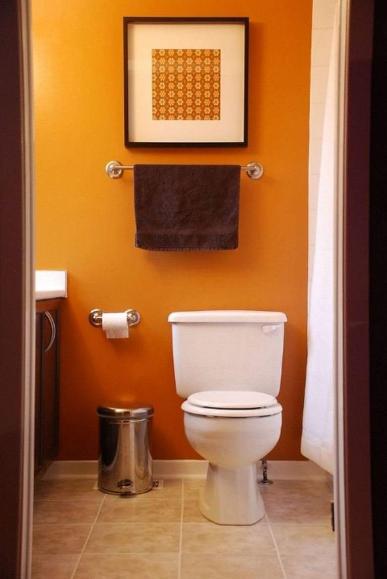20 Amazing Orange Bathroom Designs Bathroom Bathroomideas Bathroomdesign Bathroom Design Small Modern Bathroom Colors Small Bathroom Paint