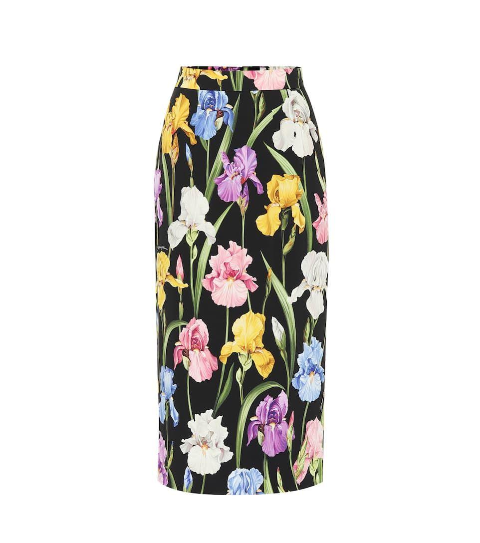 da233c764 Dolce & Gabbana Floral-printed silk midi skirt in 2019   Fabulous ...