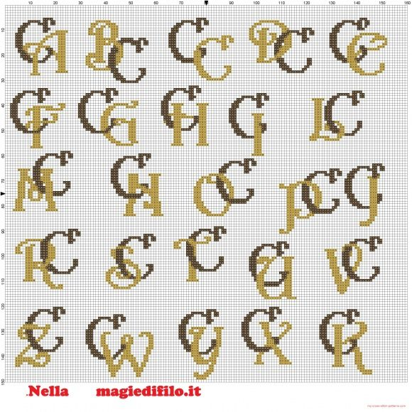 Iniciales letras entrelazadas C | Embroidery and Patches | Pinterest ...