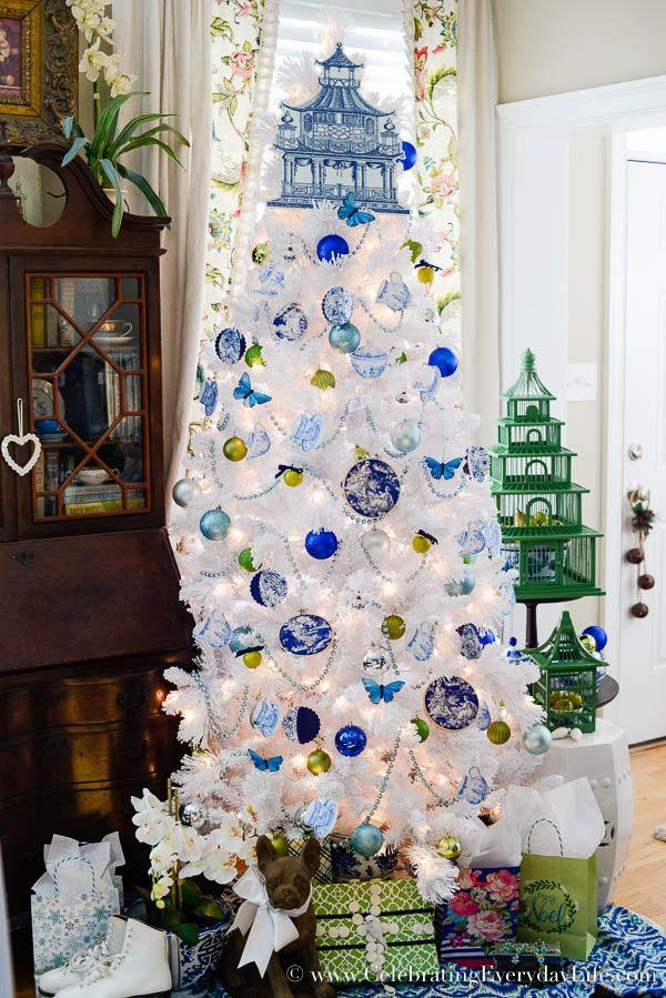 Blue White Christmas Tree Christmas Blue Walmart Christmas