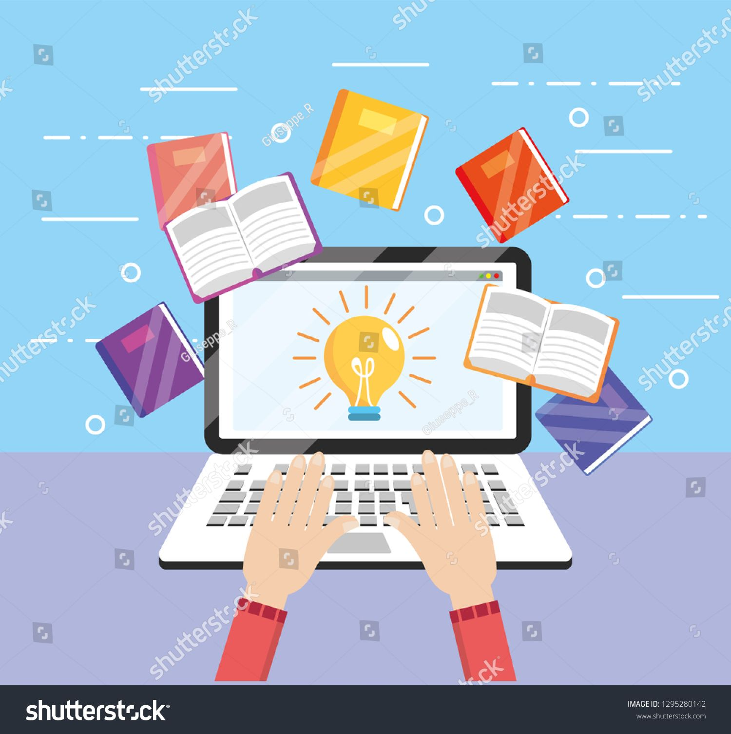 Elearning Laptop Technology With Education Book Ad Affiliate