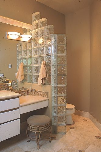 glass blocks used in bathrooms | This stepped Glass Block ...