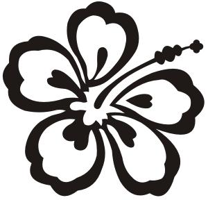 Hibiscus Flower Digital File Svg Png Jpg Cricut Etsy In 2021 Flower Drawing Hawaiian Flower Drawing Flower Stencil
