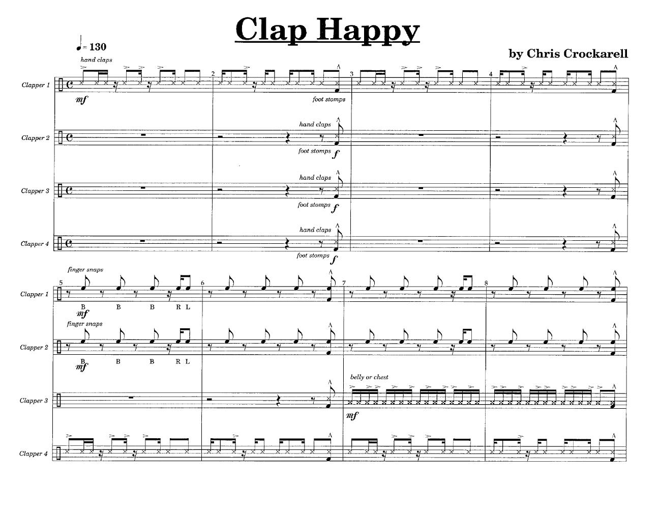 Clap Happy Body Percussion Ensemble