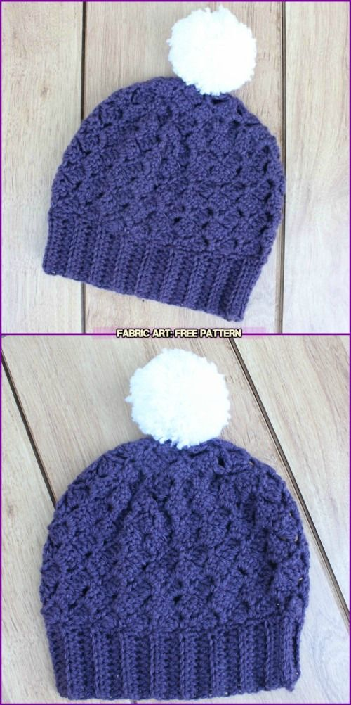 Crochet Side Saddle Stitch Berry Hat free pattern | baby | Pinterest ...