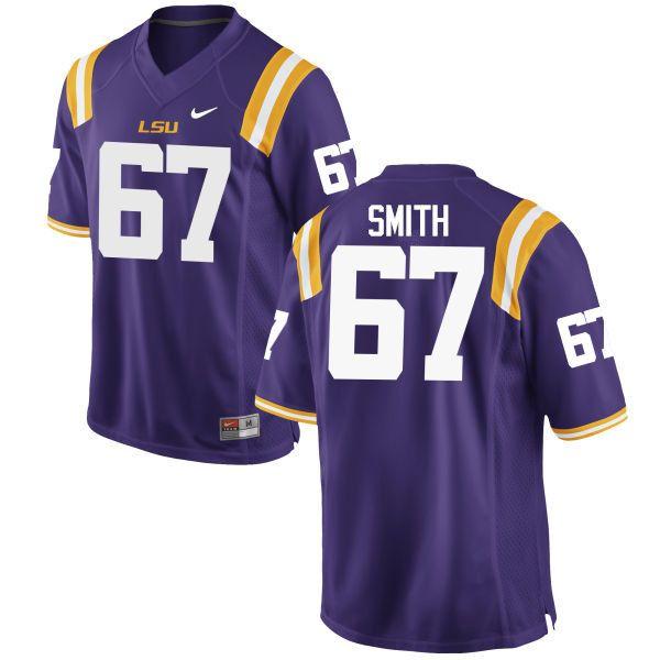 Men LSU Tigers  67 Michael Smith College Football Jerseys Game-Purple d7f366f3d