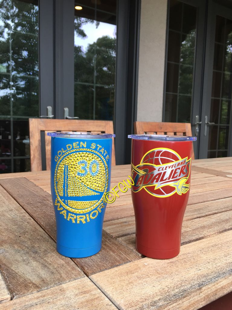 5772a09a923 Our Golden state warriors Cleveland Cavs Custom made tumblers ...