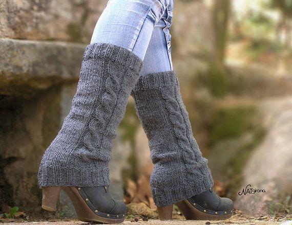 Knit Leg Warmers Boot Cuffs Faux Boot Socks Boot Door Natgirona