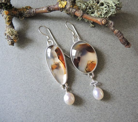 Hey, I found this really awesome Etsy listing at https://www.etsy.com/listing/228309421/asymmetrical-montana-agate-earrings