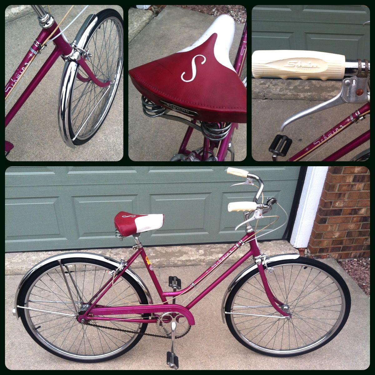 1966 Deluxe Schwinn Breeze 3 Speed Bicycle Purple Vioet Original Vintage Bicycle Schwinn Lightweight Bike