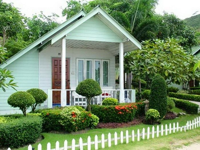 White And Green House Design Simple Beautiful Garden Pictures Houses & White And Green House Design Simple Beautiful Garden Pictures Houses ...