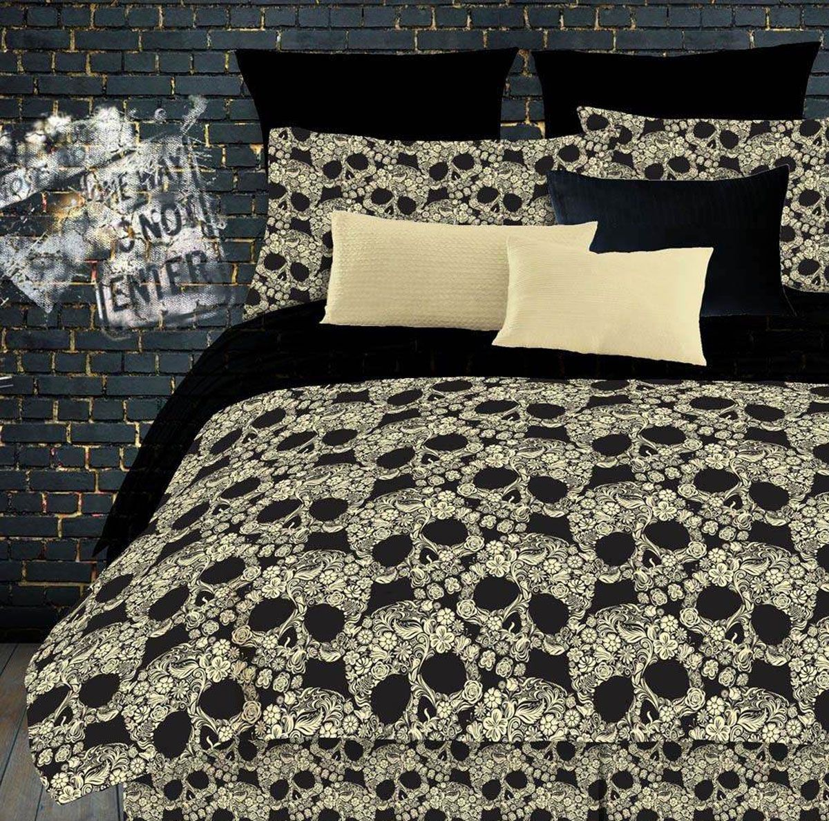 Street Revival By Vertex Skull Sheet Sets Avaialble Everywhere Comforter Sets Skull Bedding Home Decor