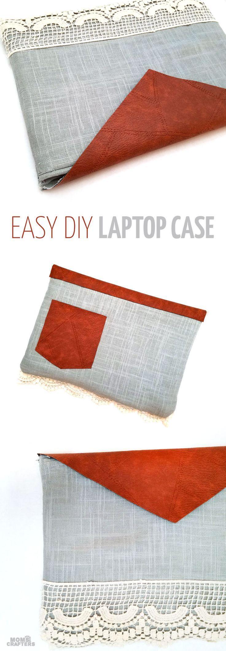 Make our own laptop case! Diy laptop, Sewing tutorials