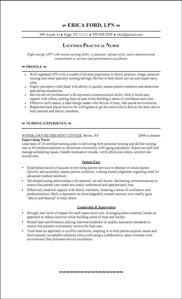 Lpn Resume Writing Guide And Sample Sample Resumes Lpn Resume Nursing Resume Resume Objective Statement