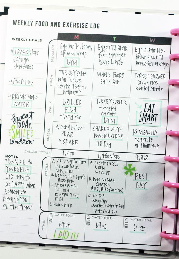 The Fitness Planner Smash book / Bujo book Fitness planner