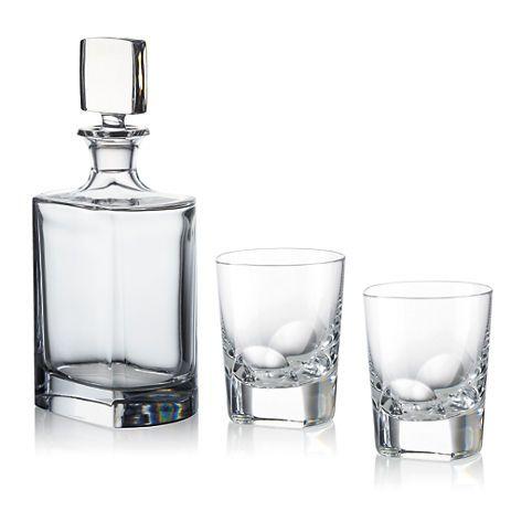 Wonderful $275   Gumpu0027s   Rogaska Manhattan Whiskey Decanter U0026 2 Double Old Fashioned  Glasses Set