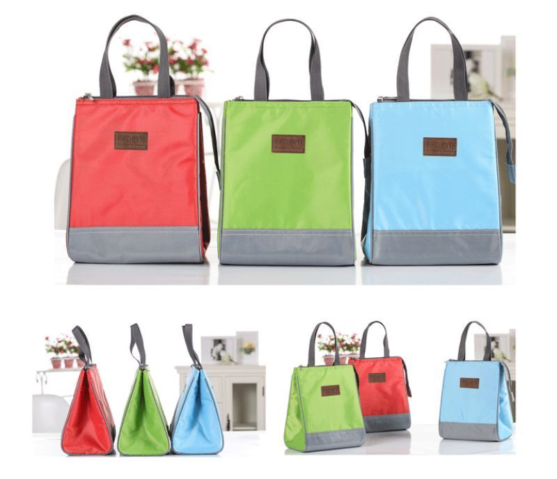 ED 3color Women Canvas Insulated Thermal Lunch Box Bag Bento Cooler Tote Picnic