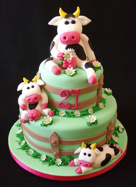 Swell Cow Cake Cow Cakes Cow Birthday Cake Cake Funny Birthday Cards Online Overcheapnameinfo