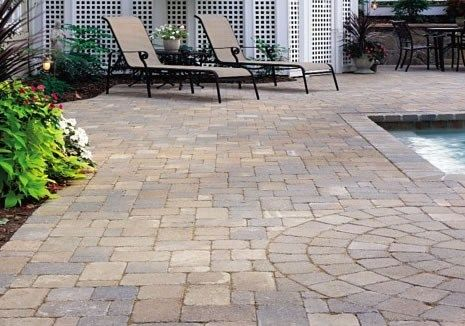 paver pool deck brown pavers paving stonescapes design hanover