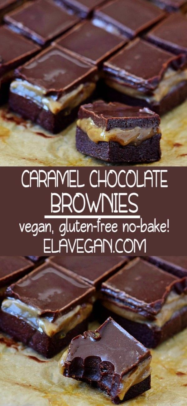 CHOCOLATE BROWNIES -  -CARAMEL CHOCOLATE BROWNIES -  - Chocolate cubes are our new favorite dess