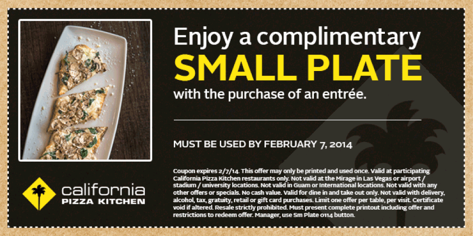 Pinned February 2nd: Small plate free with your entree at ...