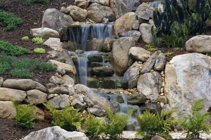 Slope Yard Landscaping Ideas Backyard Landscape And Garden Projects How To Build It Sloped Yard Waterfalls Backyard Sloped Backyard