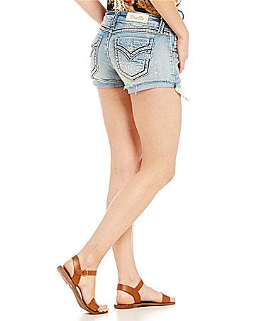 Miss Me Crochet Pocket Denim Shorts #Dillards