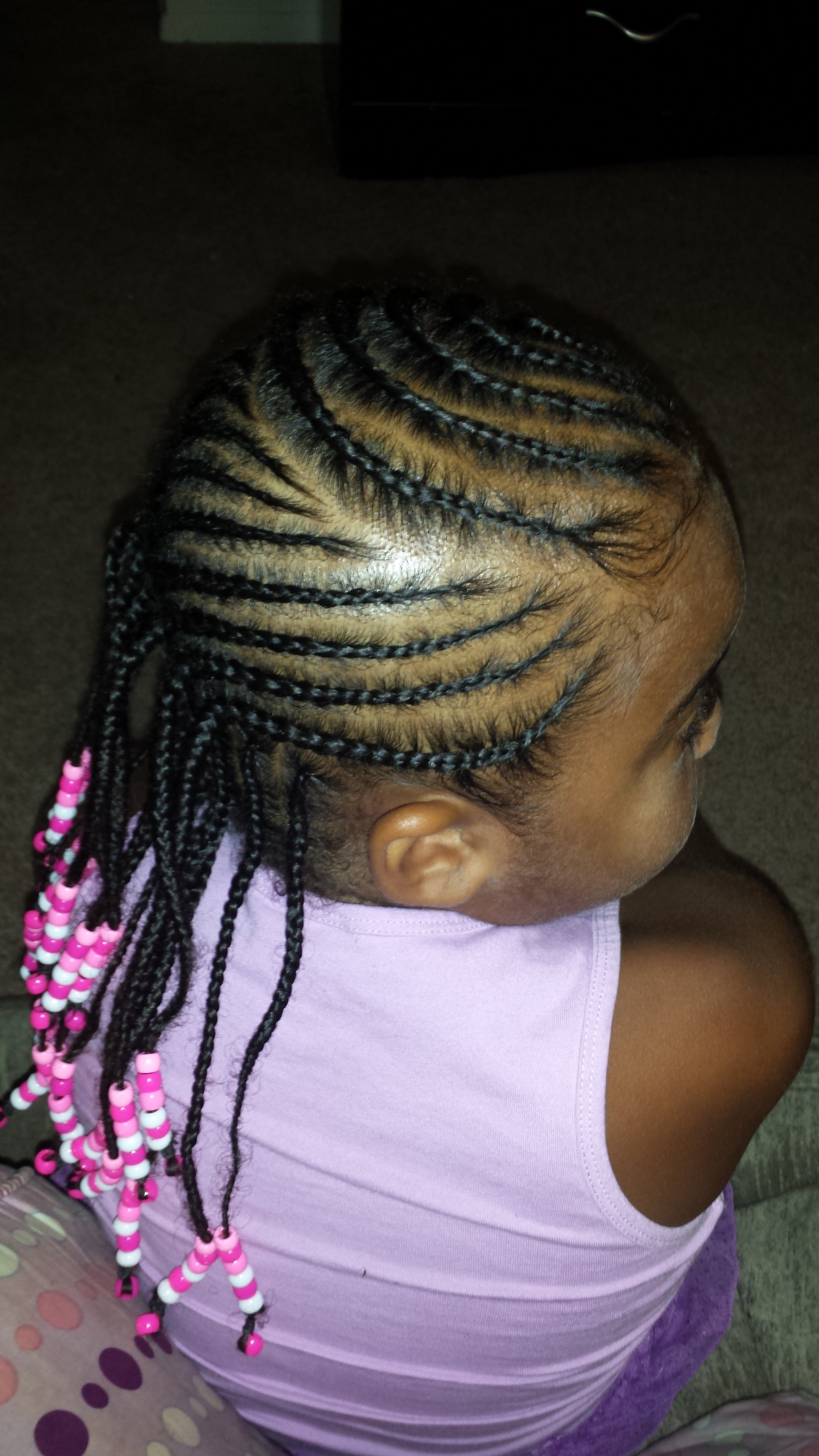 Kids Braided Hairstyle With Beads Natural Hairstyles