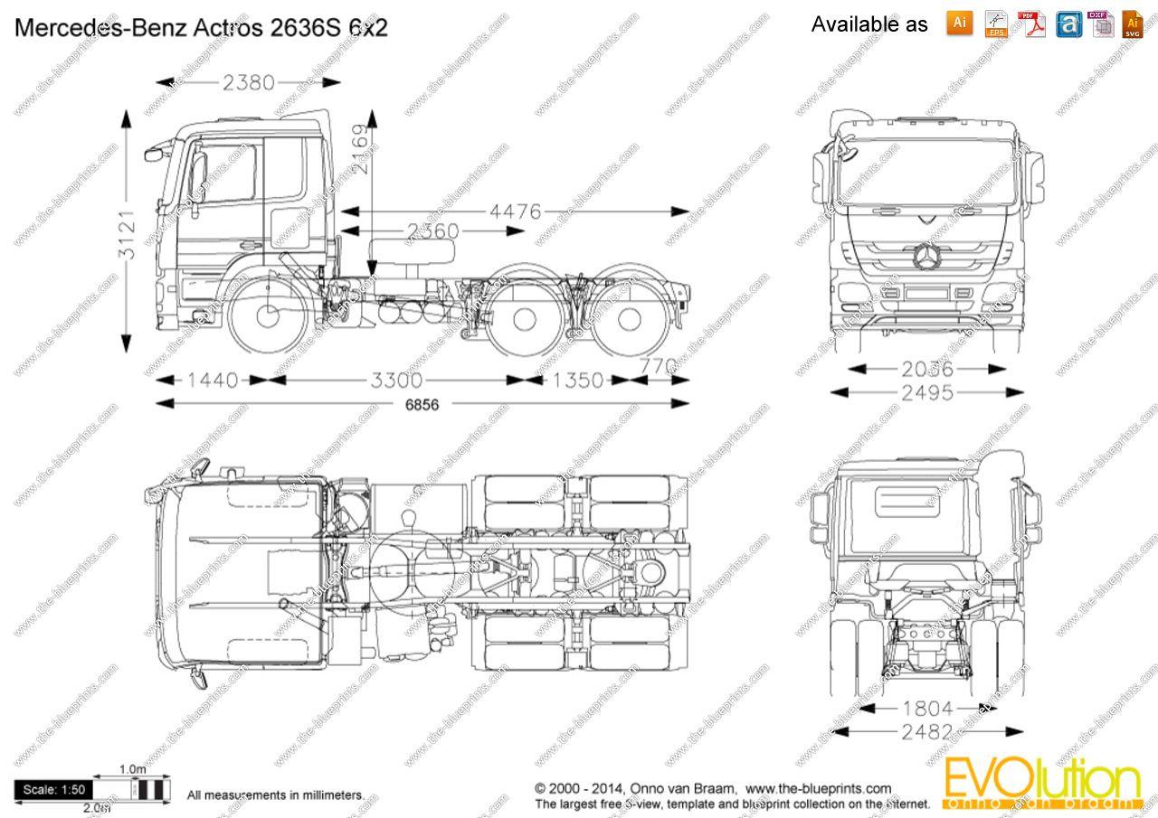 Mercedes-Benz Actros 2636S •1♥ #Mercedes+Benz_Actros+2636S