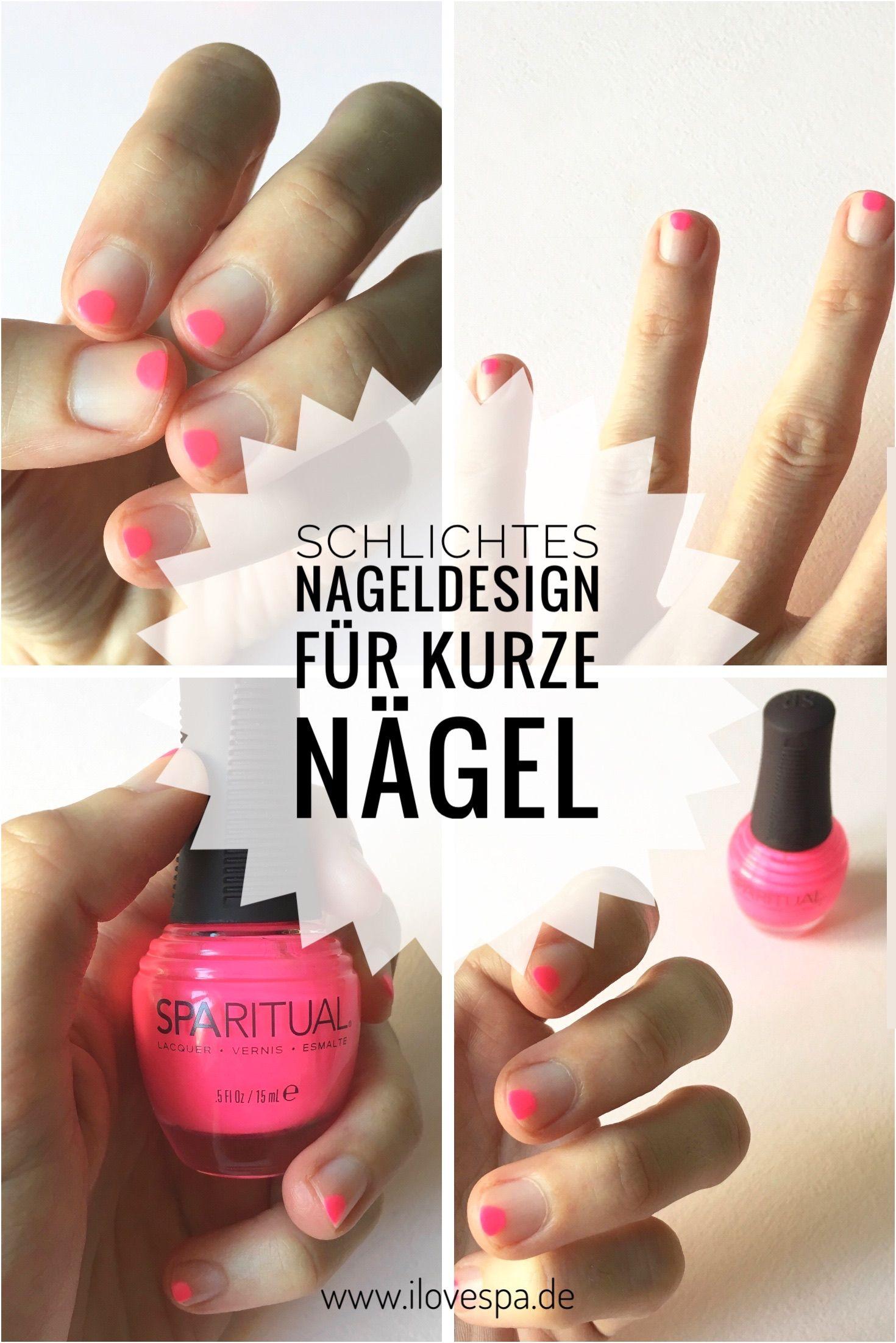 DIY Minimal Manicure #3 - Neon - Nageldesign Natur Neon Pink ...
