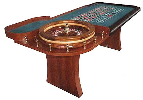Rou1210 Wooden Slab Leg Roulette Table Roulette Table Table Handcrafted Wood