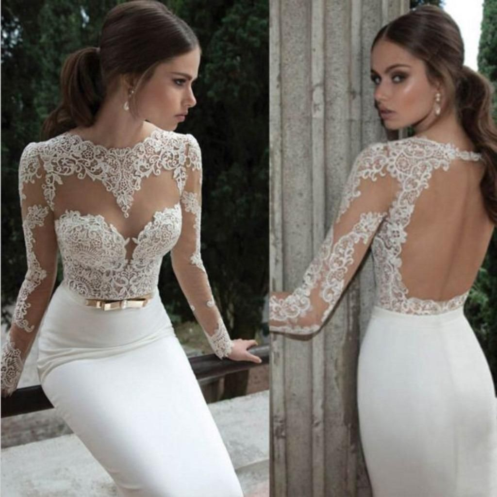 Backless embroidered lace women formal dress embroidered lace