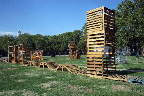 juegos infantiles materiales reciclados parques para nios buenas fotos pista ocio madera casas en los rboles