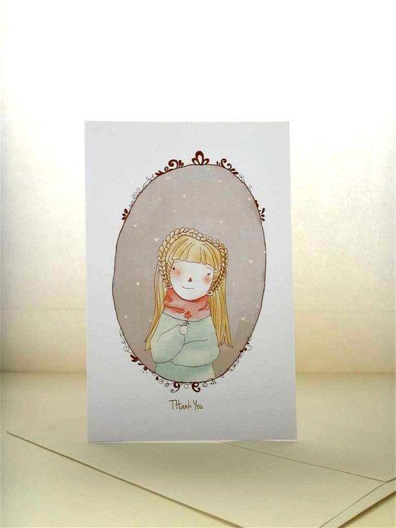 Thank You Card Greeting Card Blank Card 4 X 6 Fine By Efiwarsh