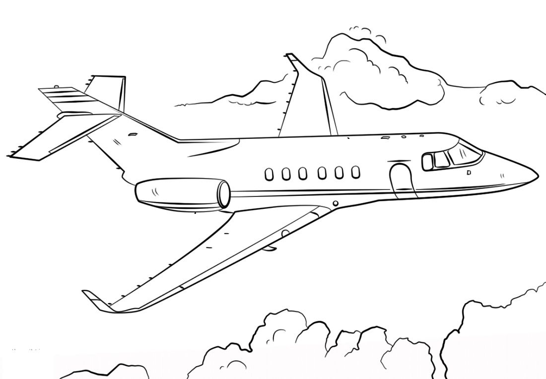Free Printable Airplane Coloring Pages For Kids | 764x1100
