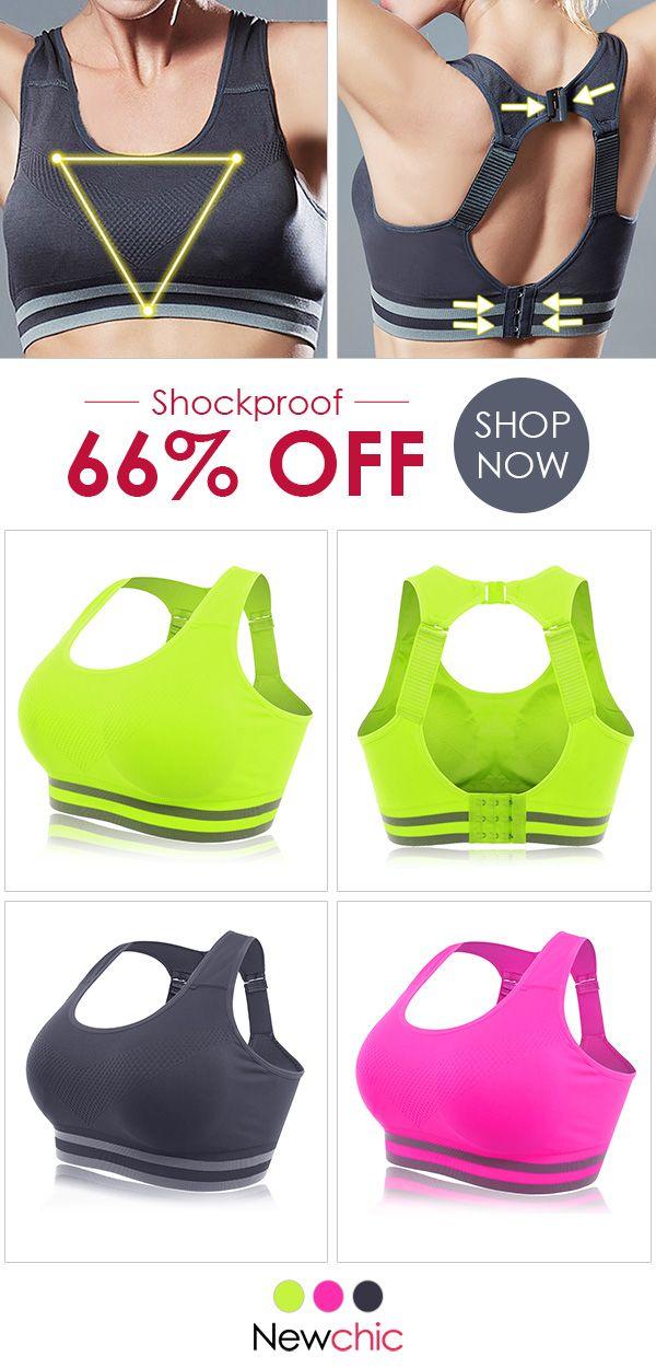 e230bdbdd73e2 Wireless Yoga Shockproof Hollow Back Adjustable Sports Bras  bras  sports   yoga  wireless  sportsbra