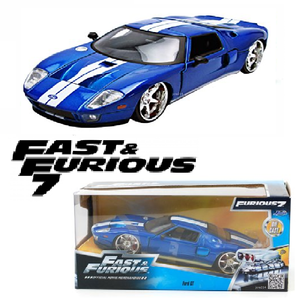 Ford Gt Blue W White Stripes Fast Furious 7 2015 Movie 1 24 By