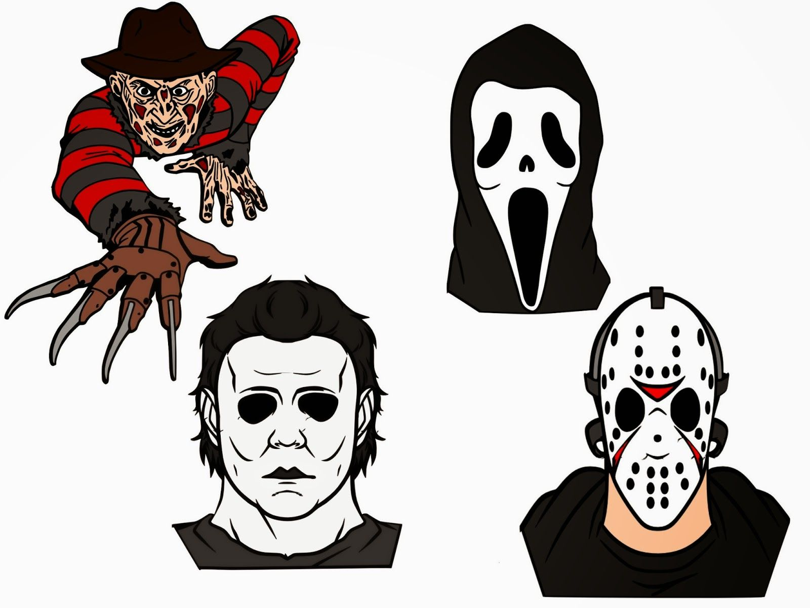 Crafting with Meek Scary Movie Villians SVG Scary