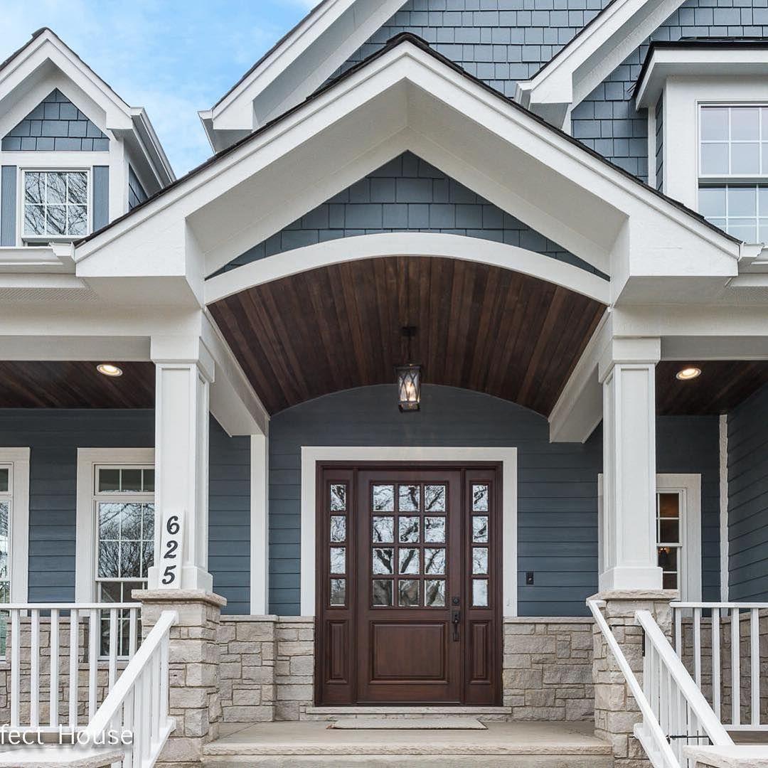 45 Best House Exterior Design Ideas That Have Nuances Of Navy Blue House Exterior Blue Gray House Exterior Grey Exterior House Colors