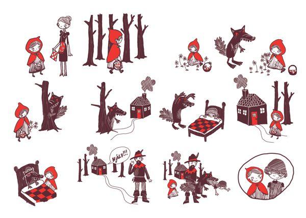 Little red riding hood - stories without words by Karitas Palsdottir, via Behance
