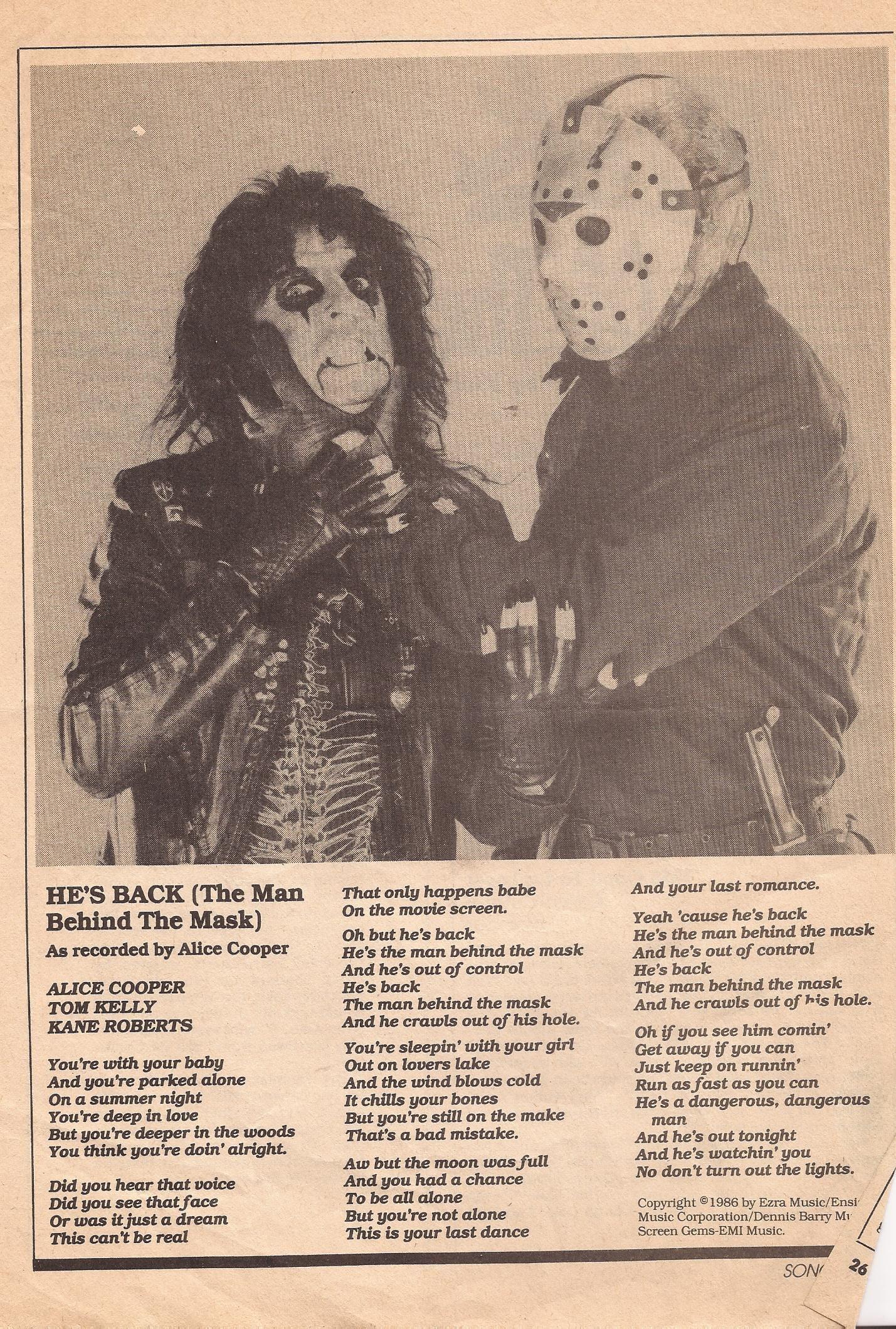 Alice Cooper The Man Behind The Mask Lyrics Tareas
