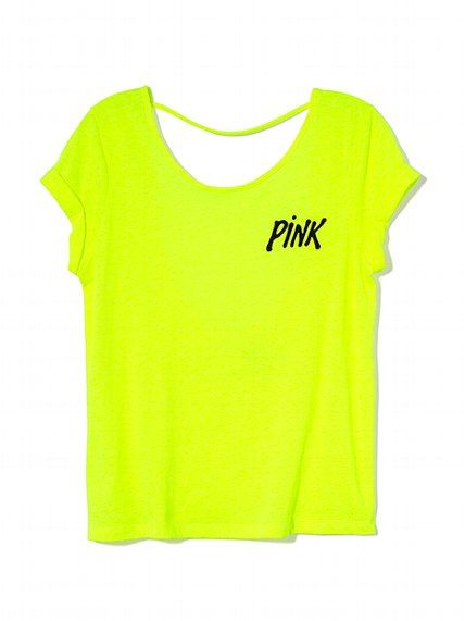 PINK NEW!  			Low Back Tee #VictoriasSecret http://www.victoriassecret.com/pink/tees-and-tanks/low-back-tee-pink?ProductID=114510=OLS?cm_mmc=pinterest-_-product-_-x-_-x