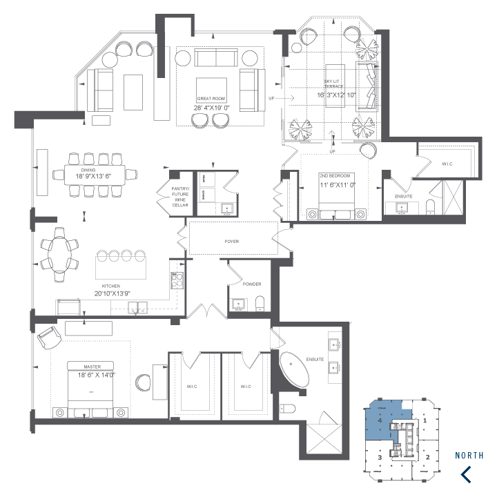 The Penthouse 4 Floor Plan Concept Penthouse Unit 4 The New Residences Of Yorkville Plaza Condominiums In Yorkv Floor Plans Pent House Penthouse View