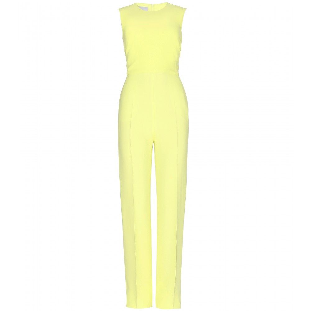 Silk-crepe jumpsuit
