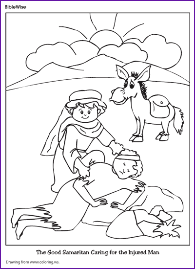 Coloring (Good Samaritan) Kids Korner BibleWise