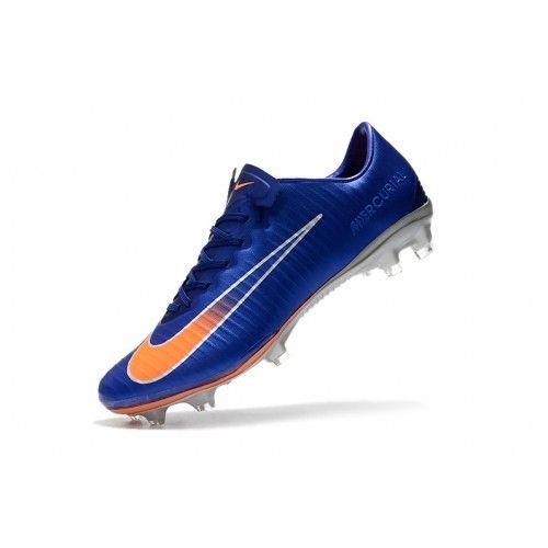 18033b7719097 Billig Nike Mercurial Vapor XI FG Herre Bla Oransje Fotballsko Outlet -Salg Nike  Mercurial Fotballsko