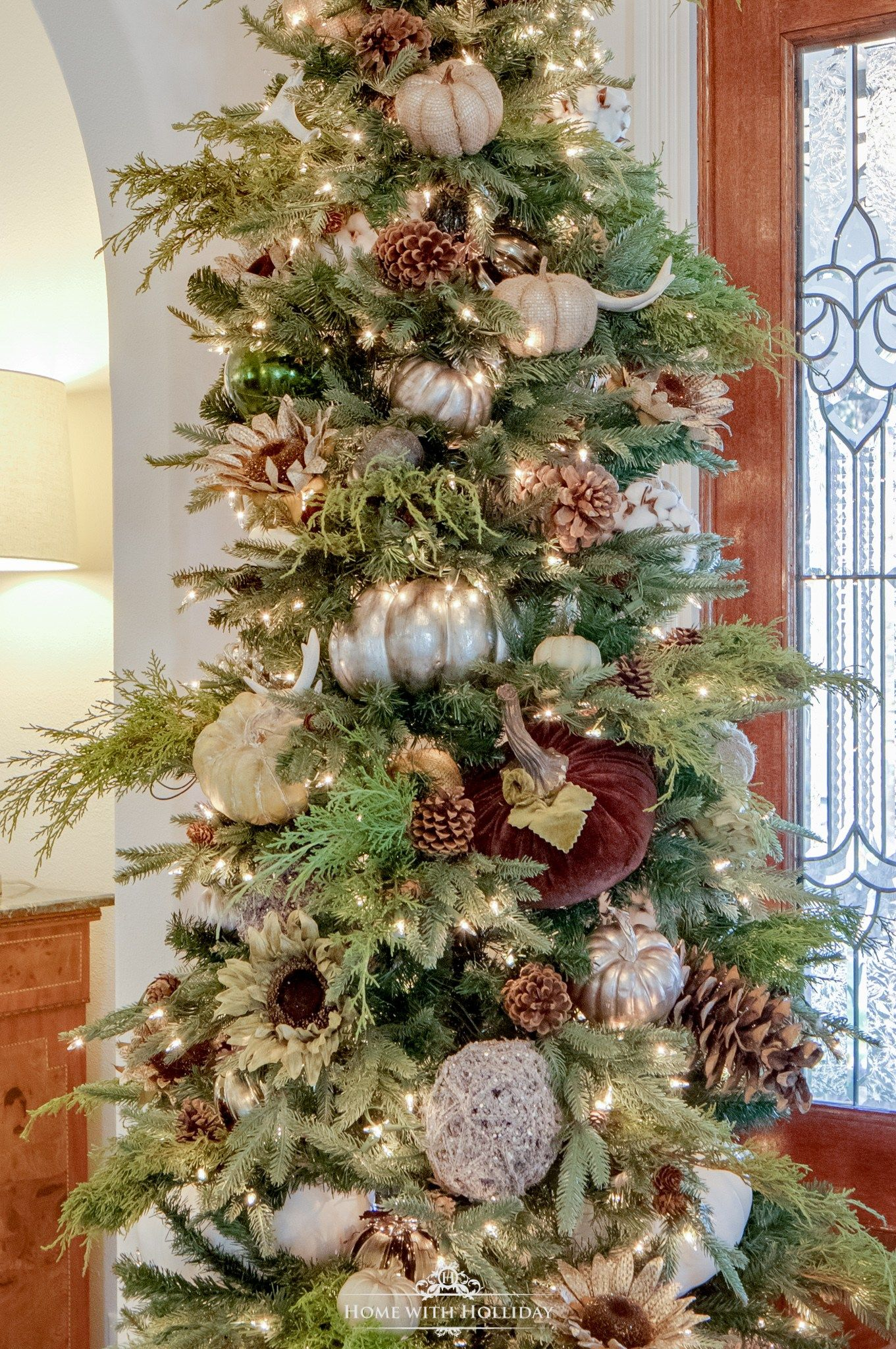 Green And White Winter Christmas Tree Home With Holliday Holiday Decor Thanksgiving Fall Christmas Tree Thanksgiving Tree