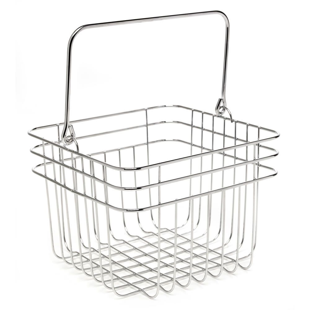 Wilko Swirl Square basket Chrome at wilko.com | Bathroom | Pinterest ...