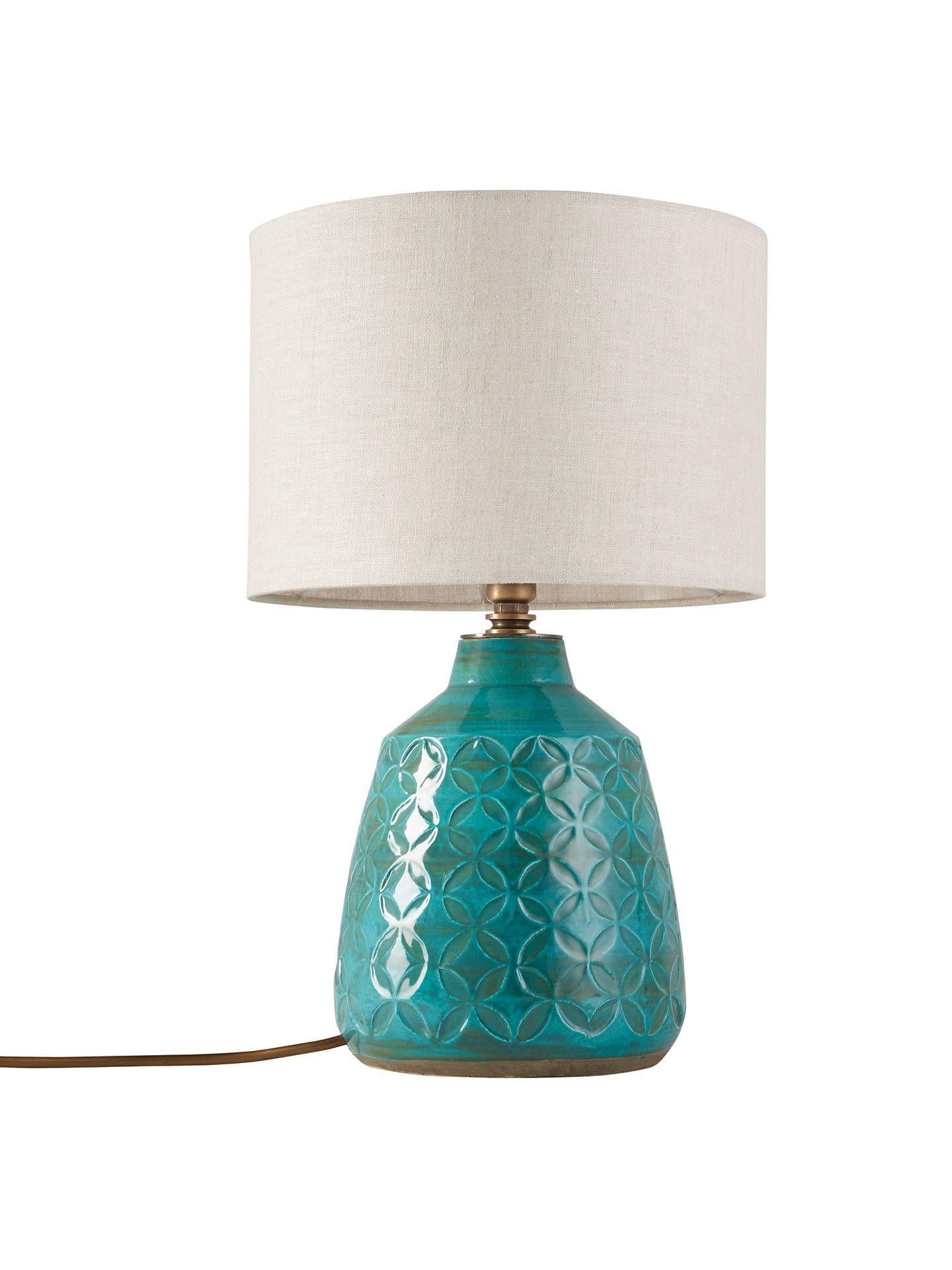 John Lewis & Partners Samara Ceramic Lamp Base, Green